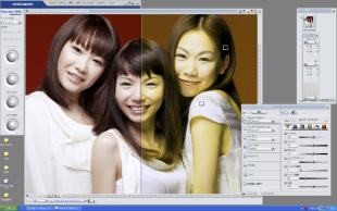 異なるプロファイルをトリミング表示しながら色調整